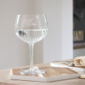 Crystal Cut Personalised Gin Glass