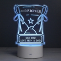 Personalised Trophy LED Colour Changing Night Light