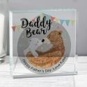 Personalised Daddy Bear Crystal Token