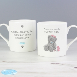 Personalised Me To You Girls Wedding Balmoral Mug
