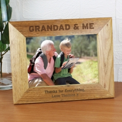 Personalised 5x7 Grandad & Me Photo Frame