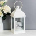Personalised The Family White Lantern