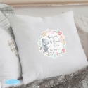 Personalised Me to You Floral Cream Cushion Cover