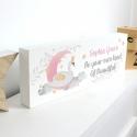 Personalised Swan Lake Wooden Block Sign