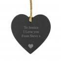 Personalised Heart Motif Small Slate Heart