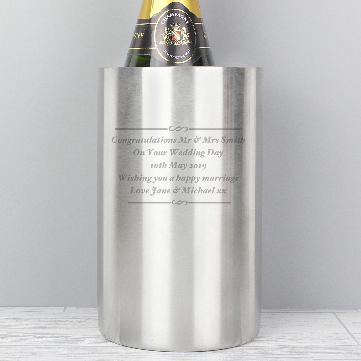 Personalised Any Message Wine Cooler