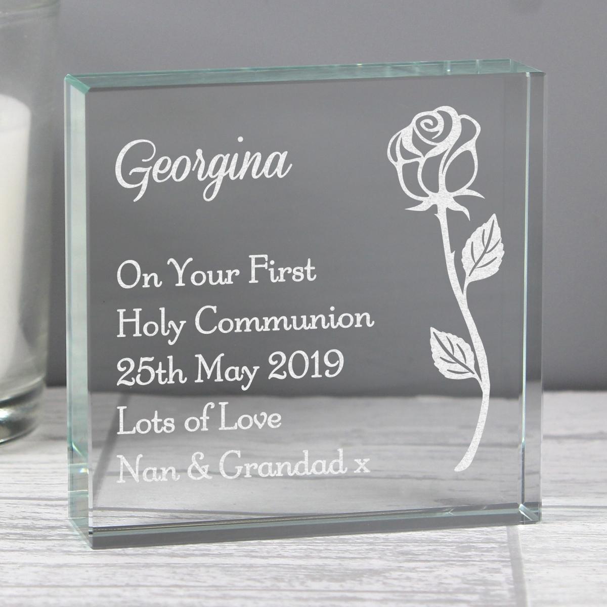 Personalised Rose Large Crystal Token