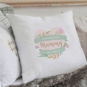 Personalised Floral Mother's Day Cream Cushion Cover