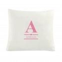 Personalised Girl's Initial Cushion Cover