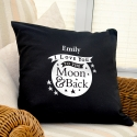 Personalised To the Moon and Back...Black Cushion Cover