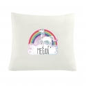 Personalised Unicorn Cream Cushion Cover
