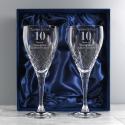 Personalised Anniversary Pair of Crystal Wine Glasses