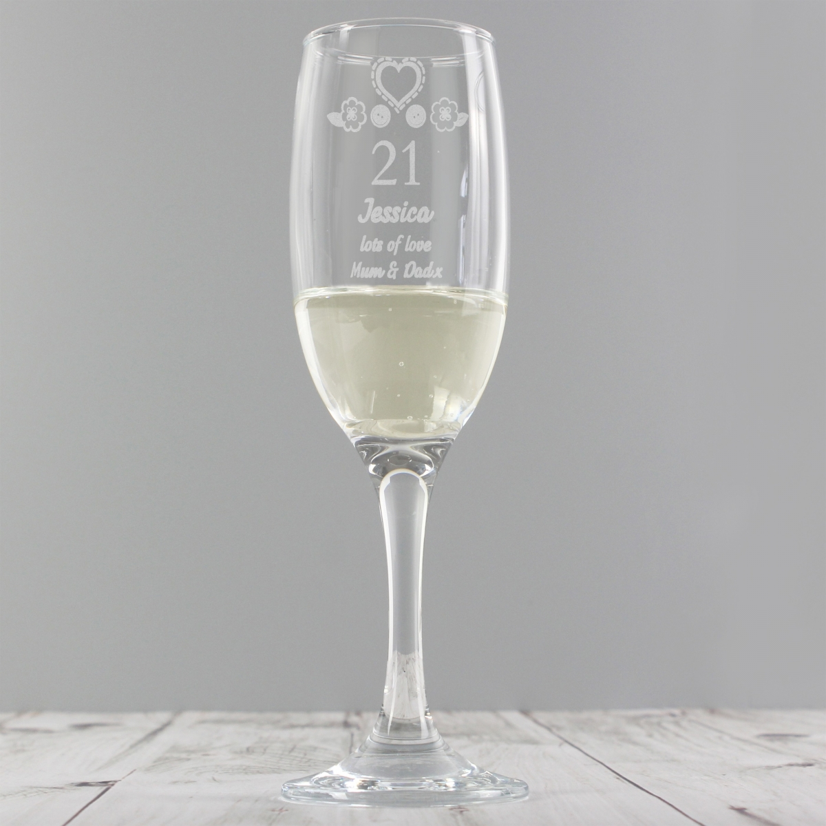 Personalised Birthday Craft Flute Glass