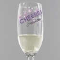 Personalised Cheers Glass flute