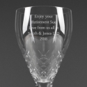 Personalised Cut Crystal Wine Glass