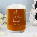 Personalised Decorative Wedding Best Man Tankard