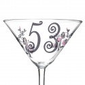 Personalised Fabulous Numbers Cocktail Glass