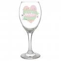 Personalised Floral Wine Glass