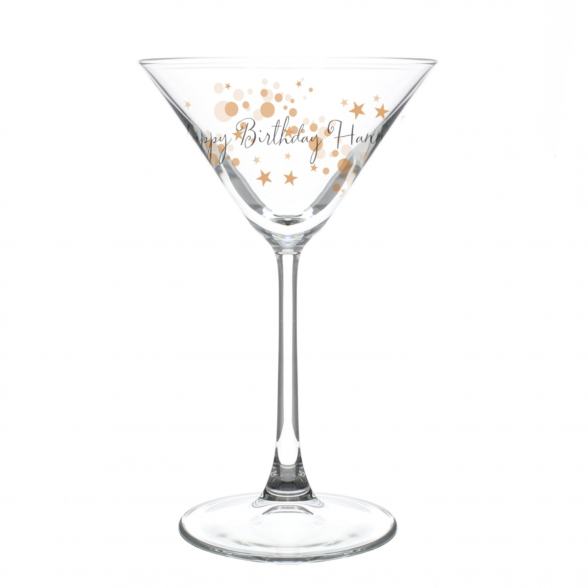 Personalised Gold Bubbles Cocktail Glass