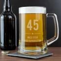 Personalised Big Age Glass Pint Stern Tankard