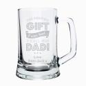 Personalised Greatest Dad Glass Pint Stern Tankard