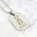 Personalised Dad Stainless Steel Dog Tag Necklace