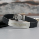 Personalised Classic Stainless Steel Men's Black Bracelet