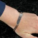 Personalised Initial Stainless Steel Unisex Bracelet