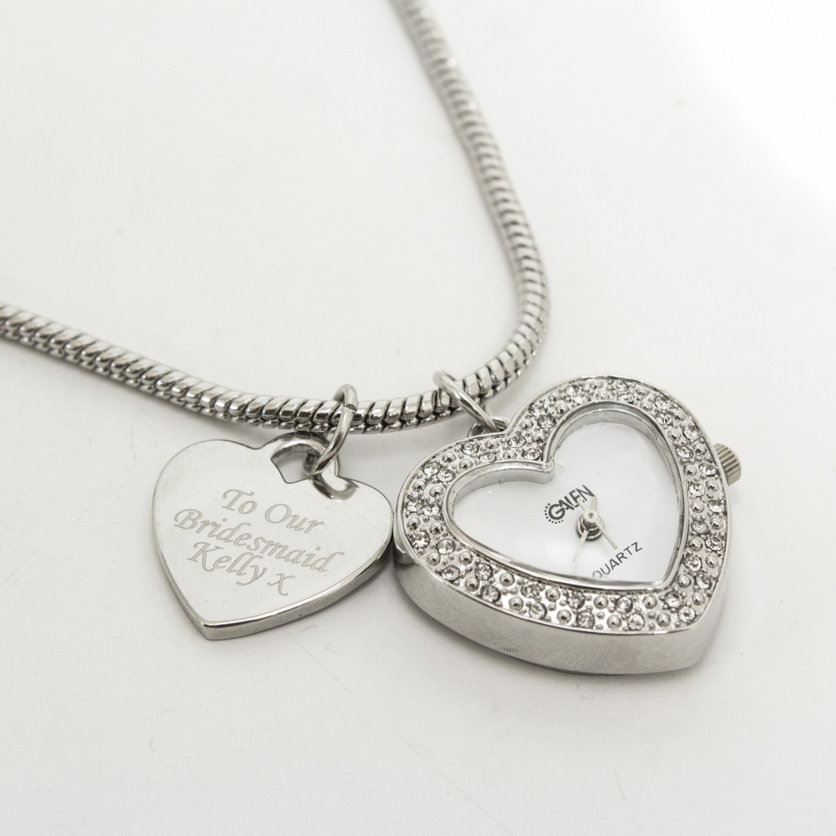 Personalised Watch Charm Necklace