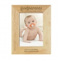 Personalised Godparents 7x5 Wooden Photo Frame