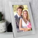 Personalised Mr & Mrs 7x5 Silver Photo Frame