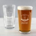 Personalised No.1 Shield Pint Glass