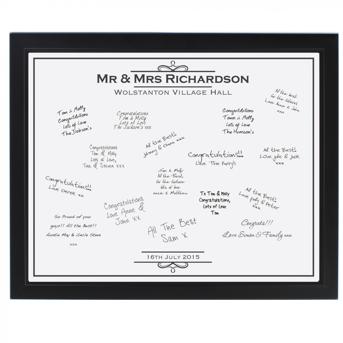 Personalised Occasion Black Signing Frame