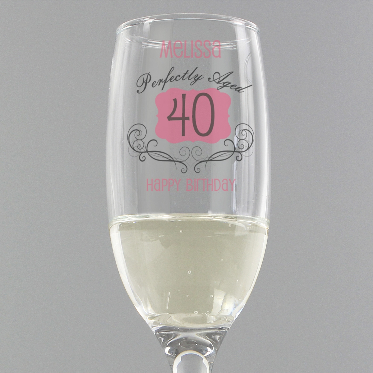 Personalised Perfectly Aged Champagne Flute
