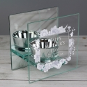 Personalised Soft Watercolour Mirrored Glass Tea Light Holder