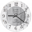 Personalised Any Message Shabby Chic Large Wooden Clock