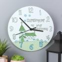 Personalised Church Boys Christening Clock