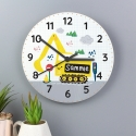 Personalised Digger Wooden Clock