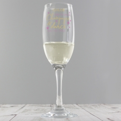Personalised 'Time To Drink' Glass Flute