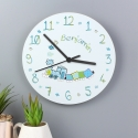 Personalised Patchwork Train Clock