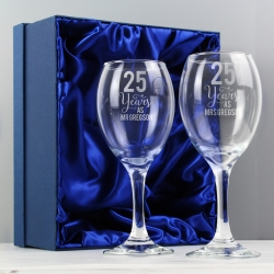 Personalised ... Years As ... Wine Glass Set