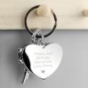 Personalised Heart Photo frame Keyring