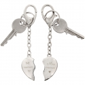 Personalised Mr & Mrs Two Hearts Keyring