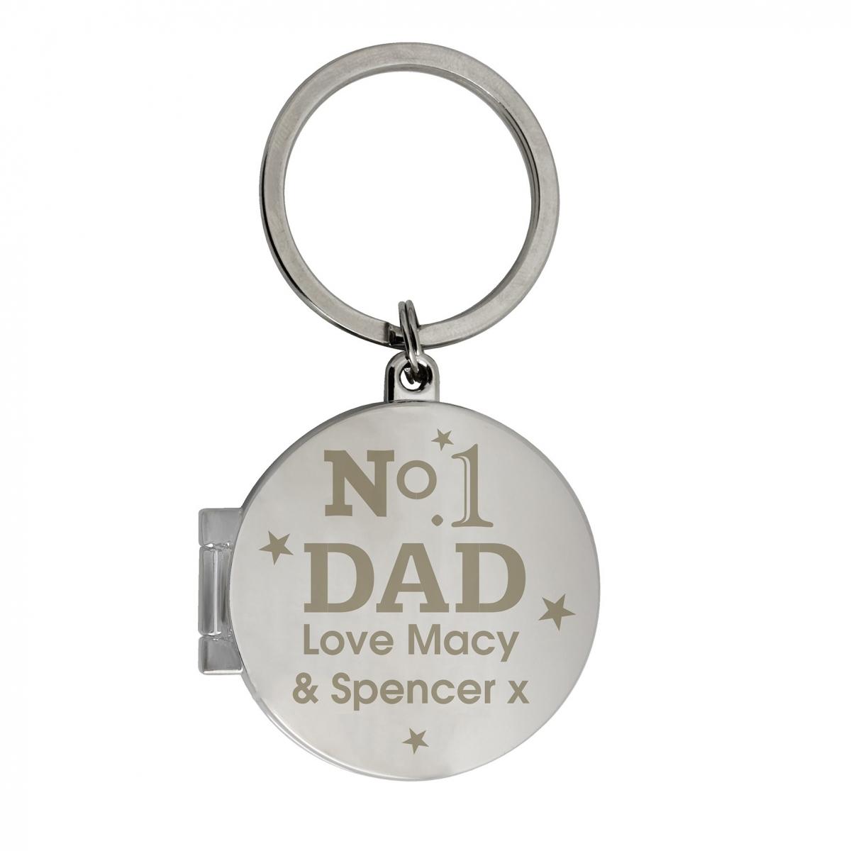 Personalised No1 Dad Photo Keyring