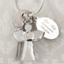 Personalised Silver Plated Angel Keyring