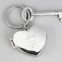 Personalised Swirl Heart Photoframe Keyring