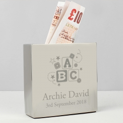 Personalised ABC Square Money Box