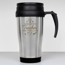 Personalised Amazing Teacher Travel Mug