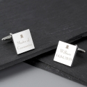 Personalised Decorative Wedding Any Role Square Cufflinks