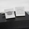 Personalised Graduation Square Cufflinks